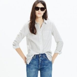 NWOT Madewell Ex Boyfriend Shirt Napa Stripe